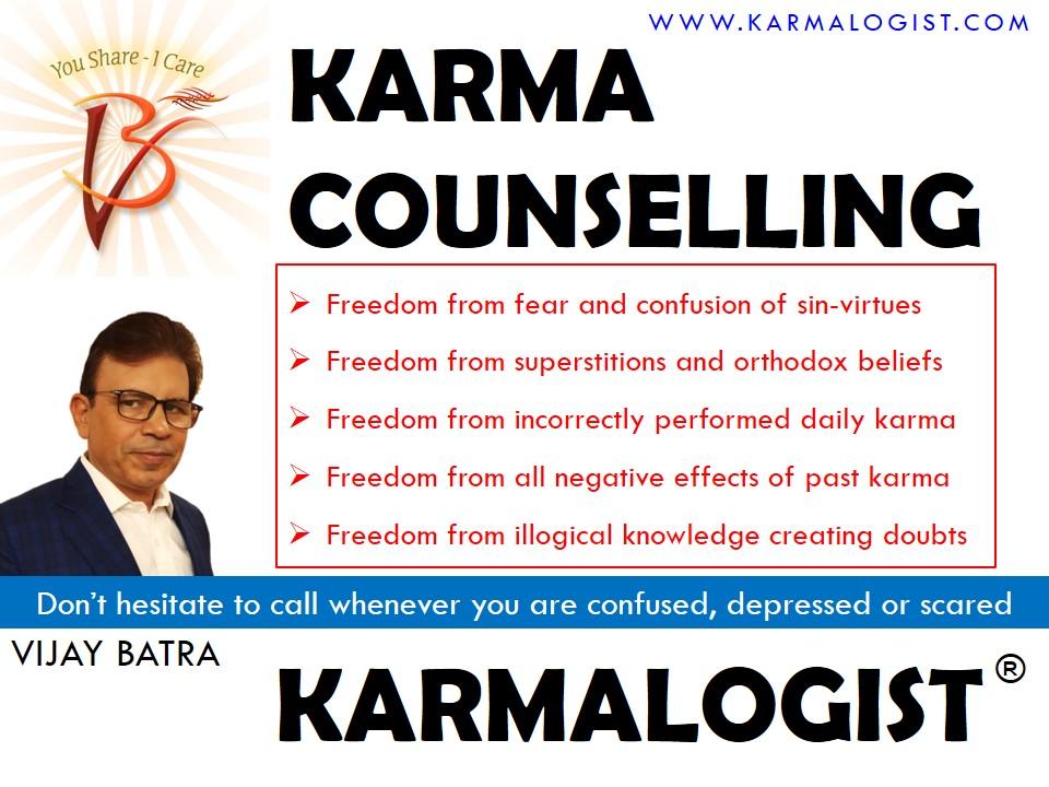 Karma Counselling by Karmalogist Vijay Batra