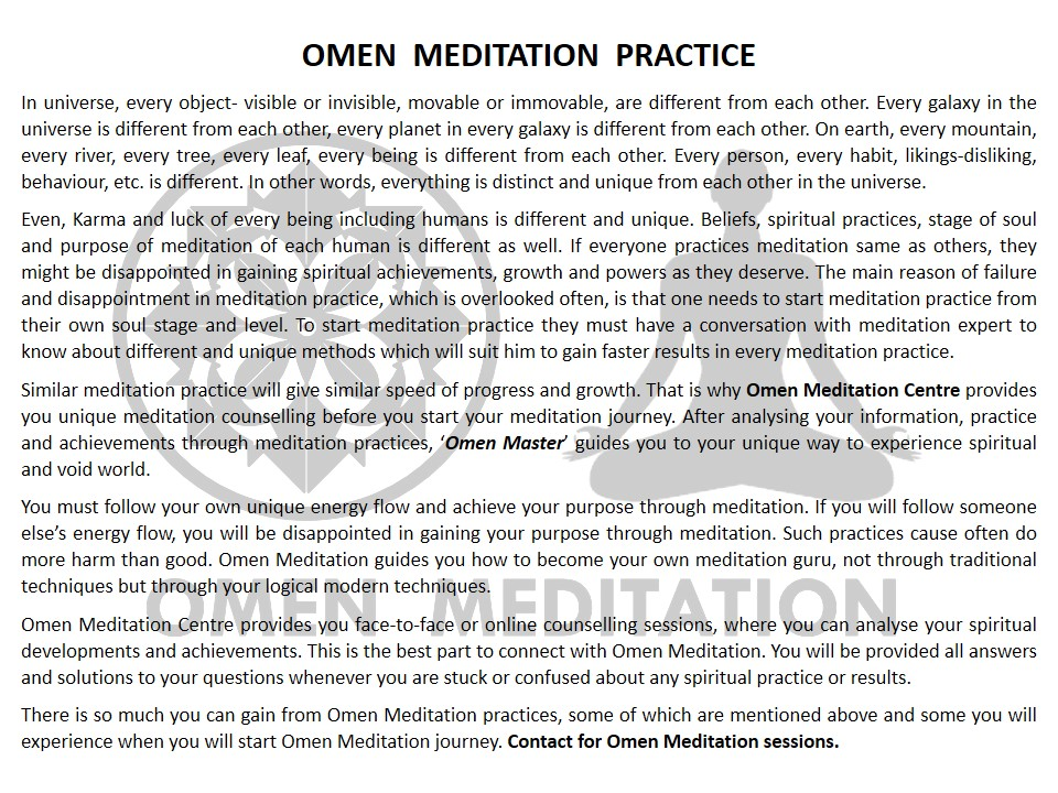 Omen Meditation Blog